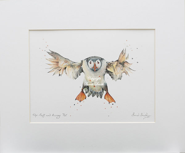 Up, Puff & Away Limited Edition Mounted Prints and Cards
