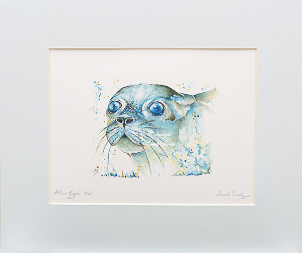 Blue Eyes Limited Edition Mounted Prints and Cards