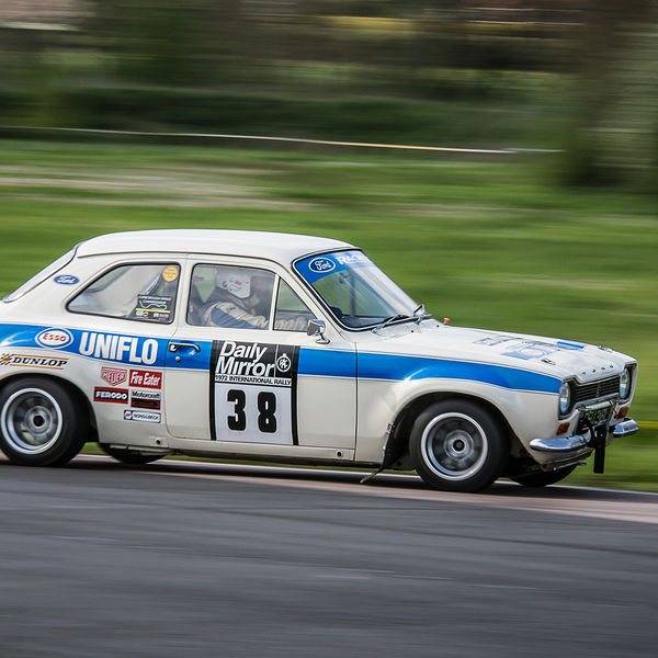 classic ford escort mk1 at speed around curborough sprint