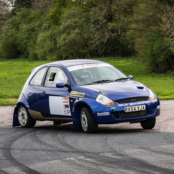 Walk motorsport ford ka at speed with opposite lock on Curborough Sprint Course