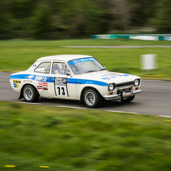 classic ford escort mark one at speed on curborough shenstone straight