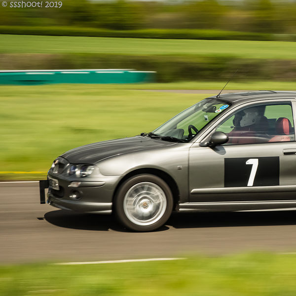 grey mg rover 25 at speed on curborough shenstone straight