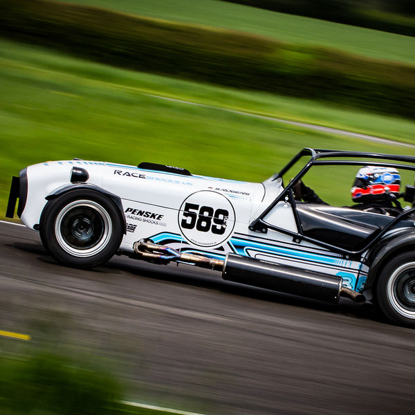 White Lotus 7 Caterham Westfield at speed on Curborough Sprint Course