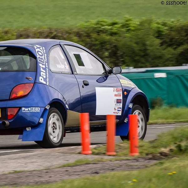 Walk motorsport ford ka cornering at speed on Curborough Sprint Course