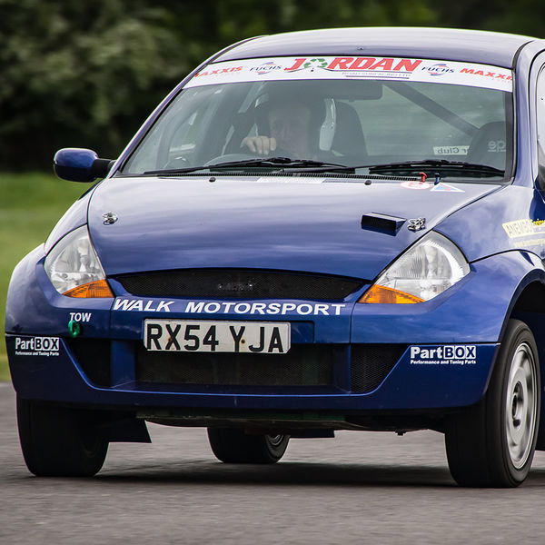 Walk motorsport ford ka at speed on Curborough Sprint Course