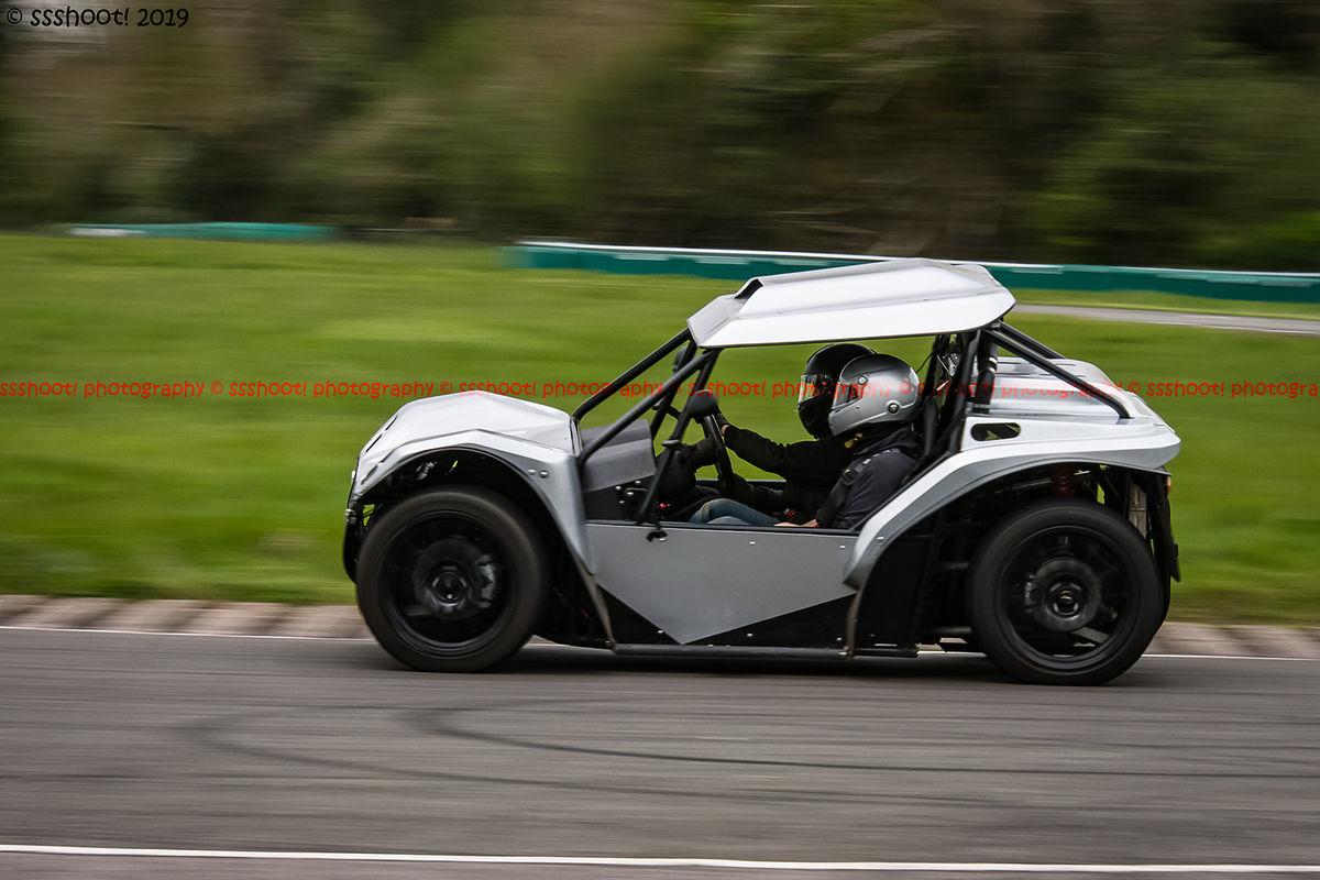 Walker-Adams buggy taking the hairpin at speed on Curborough Sprint Course