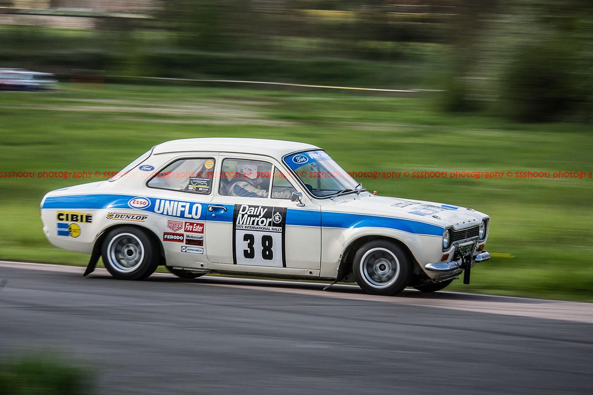 classic ford escort mk1 at speed around curborough sprint