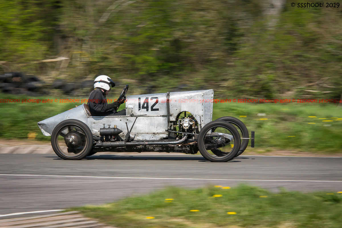 aluminium jap vintage racing car at speed on curborough sprint course