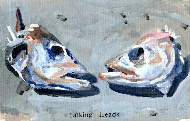 <em>Talking Heads</em> 5.5 X 9 ins £224