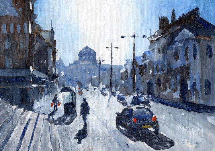 <em>Liverpool painting No.130 Renshaw Street. </em> 6x8ins £224
