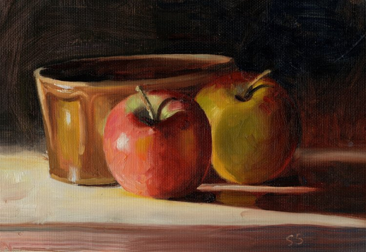 Apples and Brown Dish