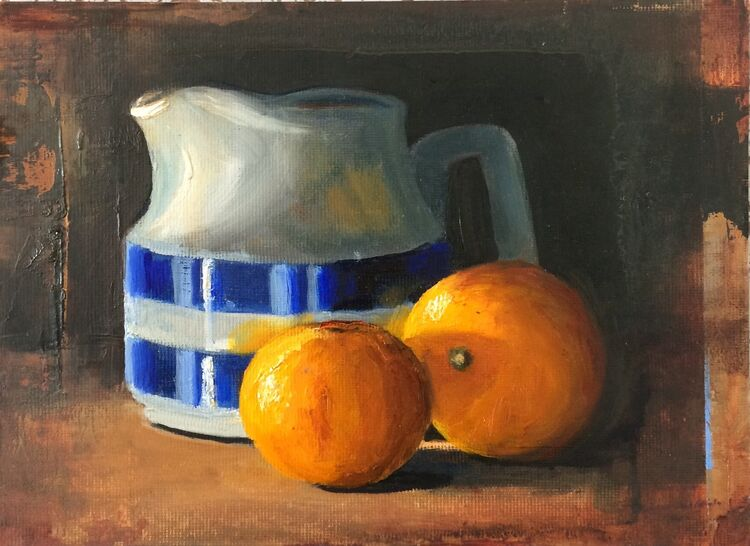 Cornish Jug and Tangerines