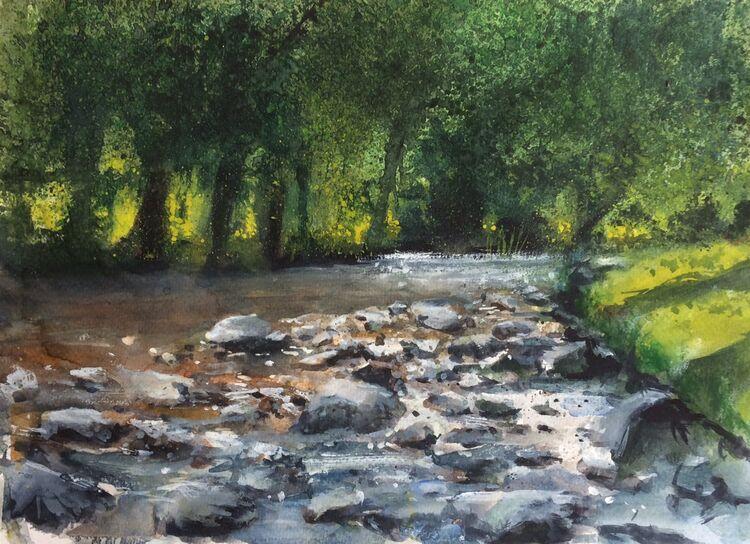 <em>A River Runs Through It: Betws-y-Coed</em> 8x12ins £160