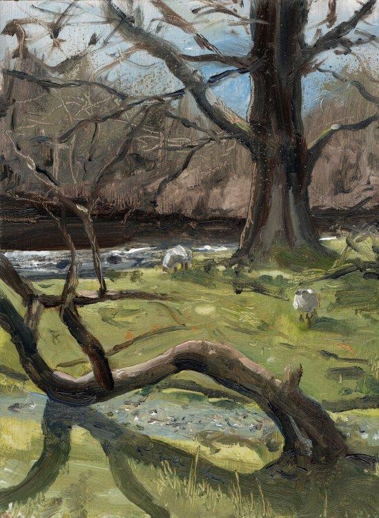<em>Betwes-y-coed II; River Llugwy. </em> 8x6ins £254