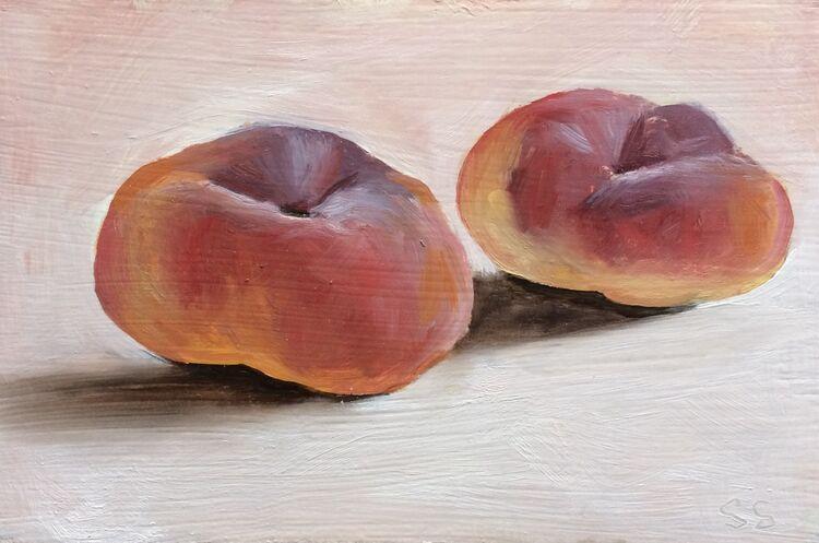 <em>Two Peaches</em> 4x6ins £85