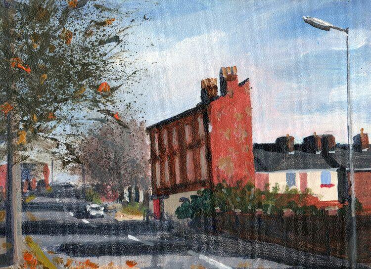 <em>Liverpool Painting No.100. Oxford Street.</em> 6x8ins £224