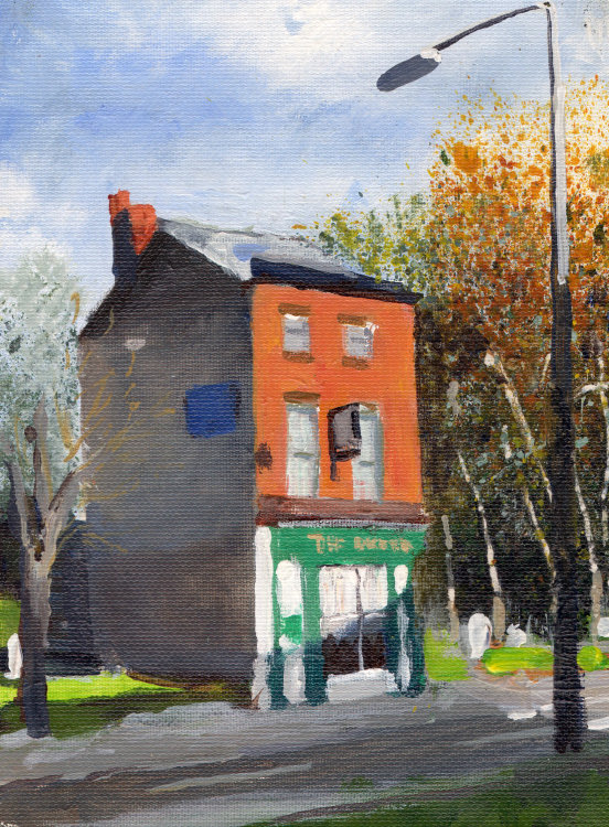 <em>Liverpool painting No.101 Oxford Street.</em> 8x6ins £224