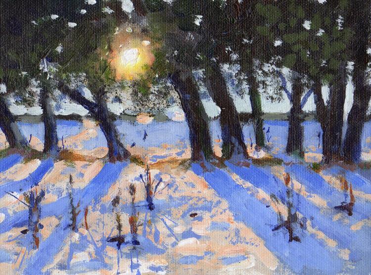 <em> Liverpool Painting No.104. St. James Gardens.</em> 6x8ins £224
