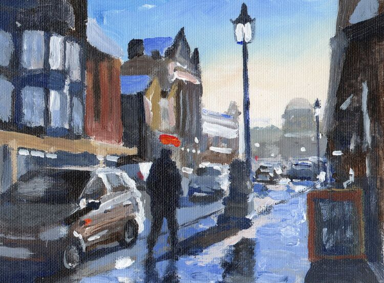 <em> Liverpool Painting No.105. Berry Street. </em> 5.5 x 7.5 ins £208