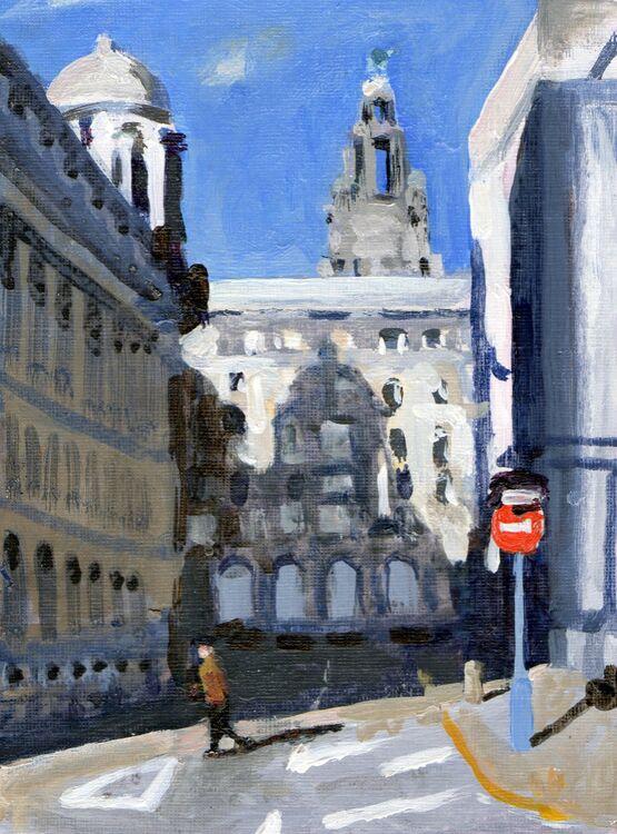 <em>Liverpool Painting No.109. George Dock Way.</em> 6x8ins £224