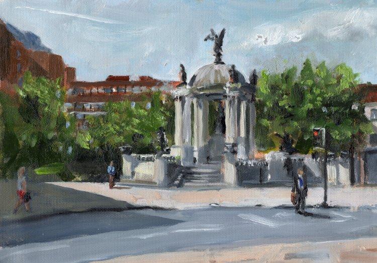 <em> Liverpool Painting No.131, Derby Square. </em> 9.75 x 6.75 ins £184