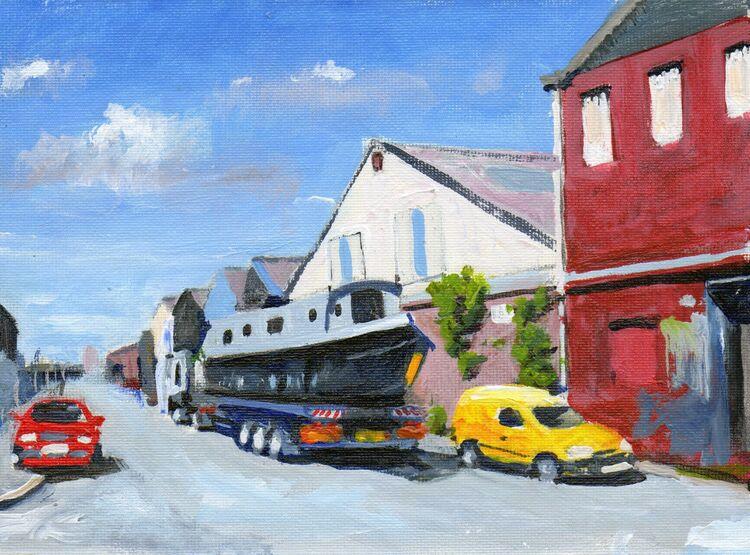 <em> Liverpool Painting No.18, Lightbody Street. </em> 6x8 ins £224