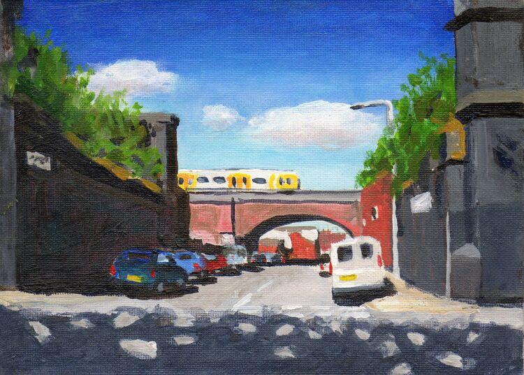 <em>Liverpool painting No.19. Sprainger Street. </em> 5.5 x 7.5 ins £208
