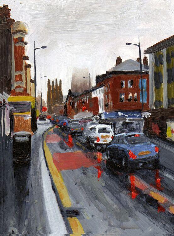 <em> Liverpool Painting No.48: Renshaw Street </em> 8x6ins £224