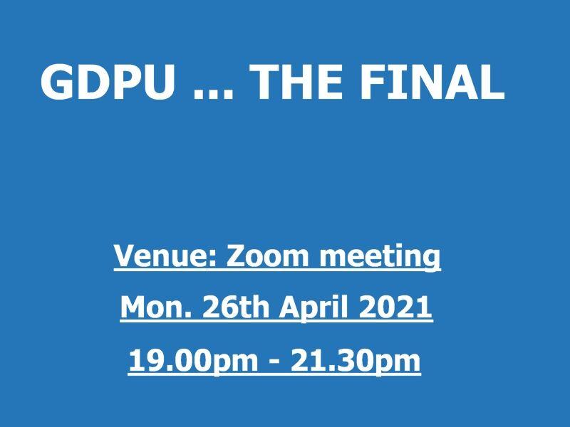 GDPU - The Final Results
