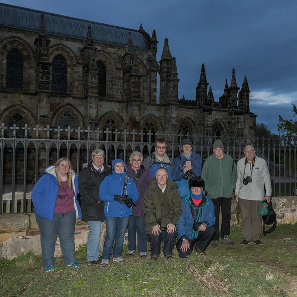 Alba members enjoy their first summer evening outing at Rosslyn Chapel