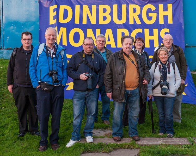Alba members enjoy an evening at Edinburgh Monarchs Speedway
