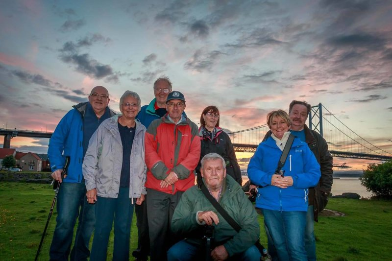 Alba members enjoy a summer night outing to Queensferry