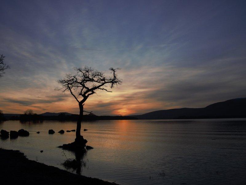Winter Sunset At Milarrochy Bay