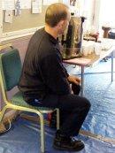 Brian on urn duty.