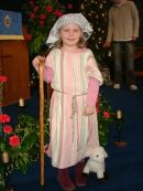 Amber was one of our shepherds - or shepherdesses!