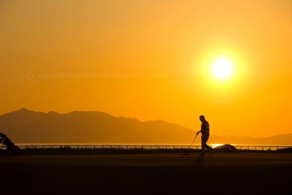 Sunset golf