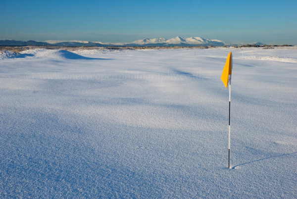 3rd green in the snow