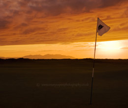 sunset flag at the 3rd