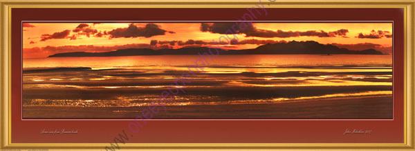 Arran from Barassie beach (panoramic )