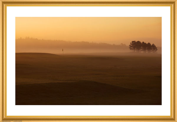 Golf in the mist.