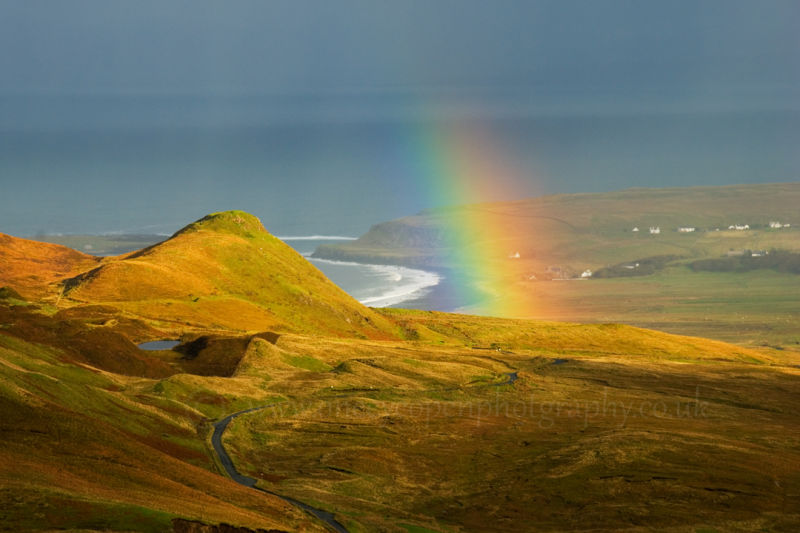 View from Quiraing to the Staffin Bay