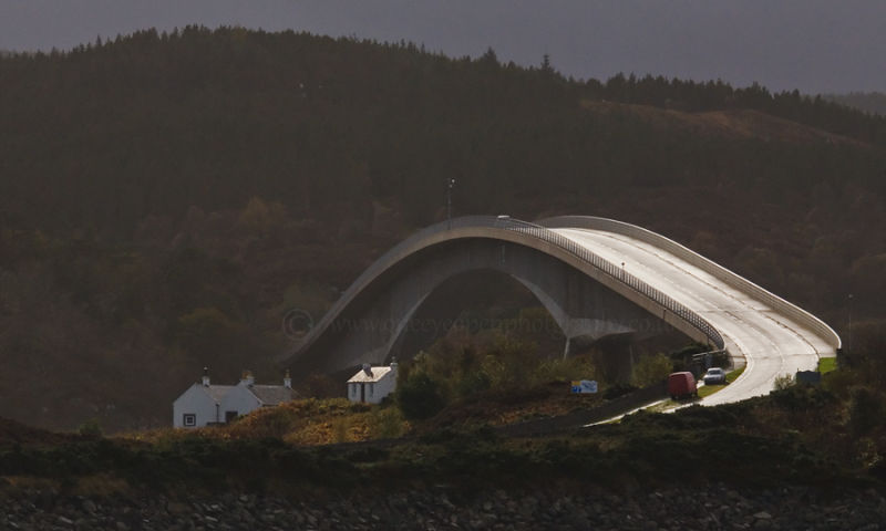 Skye bridge ,from the side.