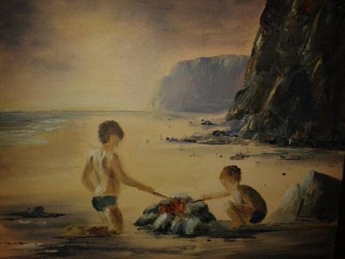 Summer Holidays - Druidstone Beach by Delith Williams