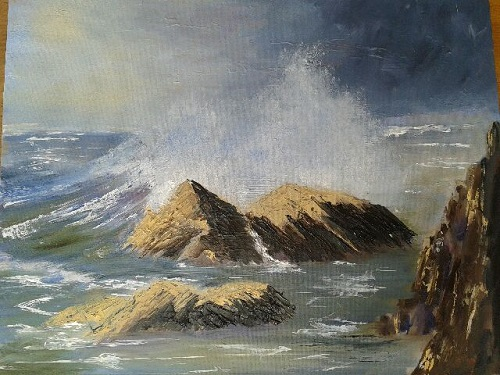 Stormy Sea. St Brides Bay by Delith Williams