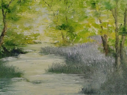 Woodland Stream, Solva by Delith Williams
