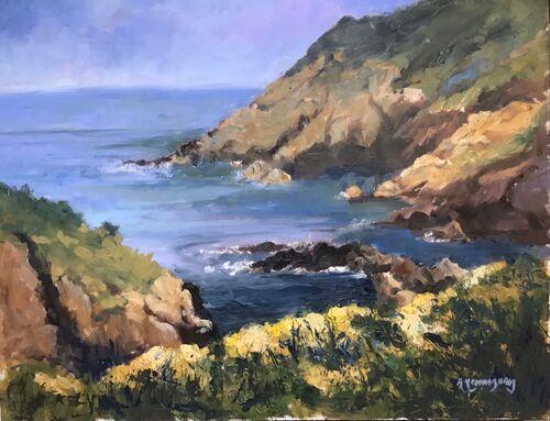 Cliff top, Solva by Alison Hemingway