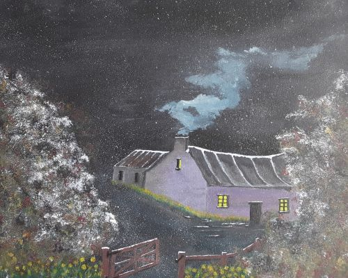 A winter's night in a Pembrokeshire Cottage by Tony Hughes