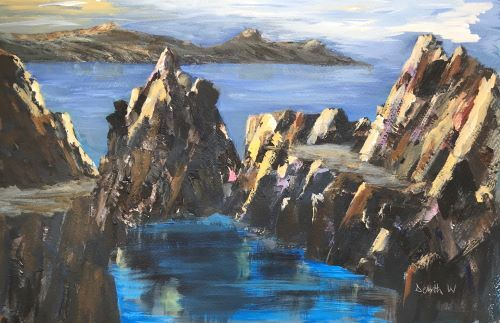Blue Lagoon, Abereiddy by Delith Williams