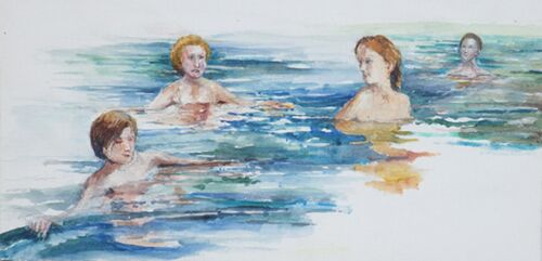 St Brides Swimmers by Chris Sherwin