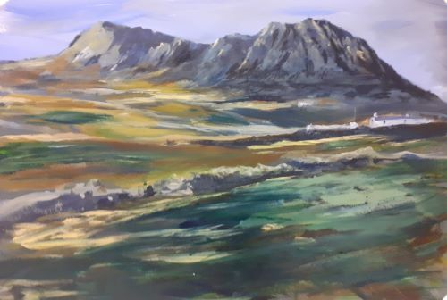 Carn Llidi above Whitesands by Delith Williams